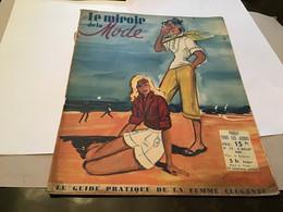 Magazine Le Miroir De La Mode 1948 Mode Modèle à La Plage De Casino Robe De Casino - Autres