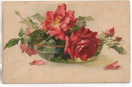 Illustrateur Catharina KLEIN   Roses Dans Un Plat - Klein, Catharina