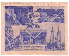 ENVELOPPE BOURBON LANCY THERMAL  C1055 - Marcophilie (Lettres)