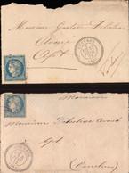 Lettre, Vaucluse, Cucuron, Gustave Delestrac Avoué Pour Apt, 1872, Lot De 2 Lettres       (bon Etat) - 1849-1876: Klassik