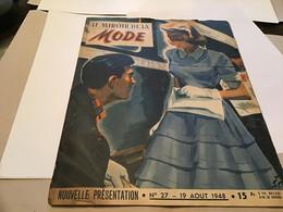 Magazine Miroir De La Mode 1948 Belle Dès Le Premier Matin Notre Patron Gratuit Une Robe D'après-midi - Autres
