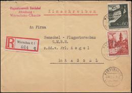 45+49 Bauwerke MiF R-Brief Motorenwerk Reichshof WARSCHAU 24.11.41 Nach Kassel - Besetzungen 1938-45