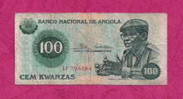 Angola, 1976- Cem ( 100) Kwanzas. Camarada Dr Agostino Neto. BB-VF-TTB. - Angola
