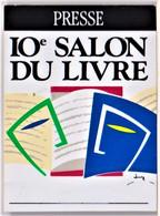 10e SALON DU LIVRE  - PARIS, PRESSE - Badge De Journalise 4.4 X 6 TBon Etat (voir Scan) - Books, Magazines, Comics