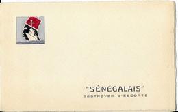 Le  Sénégalais    Destroyer D Escorte   Carte De Voeux  Pour 1946   Non Carte Postale - Oorlog