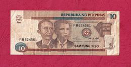 Philippines, 1998- 10 Piso. Apolinario Mabini & Andres Bonifacio. BB-VF-TTB - Filippine