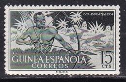 Guinea Spagnola, 1954 - 15c Hunter - Nr.333 MNH** - Guinea Española