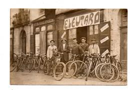 Graulhet. Garage E.Leutard. Coiffure Et Postiches Vve R.Galinier. Bicyclettes.Velos. TBE Non écrite. - Graulhet