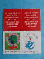 TIMBRE : No: PAIRE 3991 , De CARNET CROIX ROUGE , Avec Haut De Feuille , XX , En Bon état - Unused Stamps