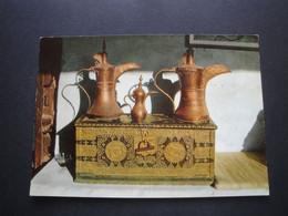 CPM - ARABIE SAOUDITE - Coffre De Mariée Avec Pots De Café Bédouin - Saudi-Arabien