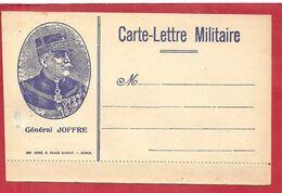 FM CARTE LETTRE  DE FRANCHISE MILITAIRE (JOFFRE)VIERGE - Military Service Stampless
