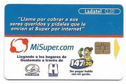 Guatemala, Ladatel,  Used Chip Phonecard, No Value, Collectors Item, # Guatemala-1 - Guatemala