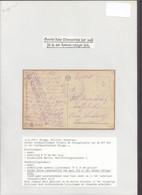 """Bataillon Allemand - Brugge Militair Hospitaal (14/8/17) + Briefstempel """"Kaiserliche Marine / Marine-Kriegslazarett I."""" - Deutsche Armee"""