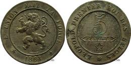 Belgique - Royaume - Léopold I - 5 Centimes 1864 Flan Pelé - TTB - Mon3453 - 03. 5 Centimes