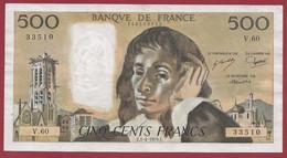 """500 Francs """"Pascal"""" Du 01/04/1976.E----ALPH.V.60---DANS L ETAT - 500 F 1968-1993 ''Pascal''"""