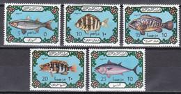 Libyen 1973 - Mi.Nr. 442 - 446 - Postfrisch MNH - Tiere Animals Fische Fishes - Fische