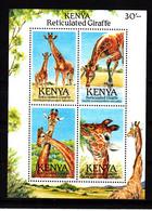 1989 Kenya Giraffes Miniature Sheet MNH - Kenya (1963-...)