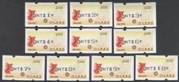 2020 Taiwan R.O.CHINA - ATM Frama - Money Rat (#102 Black Imprint $1~$10) - ATM - Frama (Verschlussmarken)