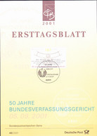 Deutschland Germany Allemagne - 50 Jahre Bundesverfassungsgericht  (MiNr: 2214) 2001 - ETB 40/2001 - Storia Postale