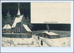 XX10180/ Halt Gegen Licht Weihnachten 1914 3 Soldaten U.d. Weihnachtsbaum AK  - Controluce