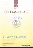 Deutschland Germany Allemagne - 1. UNI - Weltkongress  (MiNr: 2215) 2001 - ETB 41/2001 - Storia Postale
