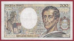 "200 Francs ""Montesquieu"" 1989-----ALPH.V.066---DANS L ETAT - 200 F 1981-1994 ''Montesquieu''"