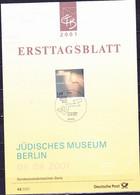 Deutschland Germany Allemagne - Jüdisches Museum Berlin  (MiNr: 2216) 2001 - ETB 42/2001 - Storia Postale