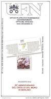 VATICANO - 2014 Brochure Bollettino UFN - 25° CROLLO MURO BERLINO - History