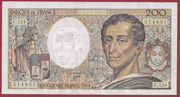 """200 Francs """"Montesquieu"""" 1992-----ALPH.C.124---DANS L ETAT--AUCUN TROU D EPINGLE - 200 F 1981-1994 ''Montesquieu''"""