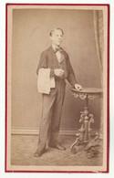 CDV Photo Foto Um 1875 - Dr. L. Psenner, Wien - Berufe, Hübscher Junger Mann, Kellner - Old (before 1900)