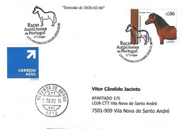 """Postmark - Portuguese Autochtnonous Breeds 3º Group - The """"Garrano"""" Horse (Stamp From Miniature Sheet) - Farm"""