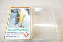 Speelkaarten - Kwartet, Der Sichere Schulweg, Quartett 631 6728, Berliner Spielkarten, *** - - Cartes à Jouer Classiques