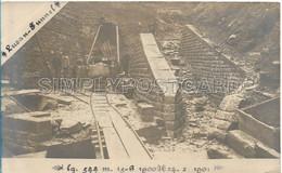 OLD REAL PHOTO POSTCARD - FILIPPINE - LAVORI DEL TUNNEL MALINTA - LUZON - 1900 - 1901 - W80 - Philippines
