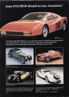 Page De Publicité POCHER 1989 Jeder Pocher-Modell Ist Eine Attraktion ! - En Allemand - Catalogues & Prospectus