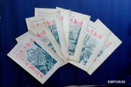7 Anciennes Couverture De Cahier Italiennes, Exercices Physiques - 7 Vecchie Copertine Di Quaderni, Gli Esercizi Fisici - Protège-cahiers