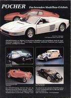 Page De Publicité POCHER FALLER 1989 Das Besondere Modellbau-Erlebnis Maßstab 1/8 - En Allemand - Catalogues & Prospectus