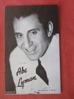 Abe Lyman   Ref  4381 - Artisti
