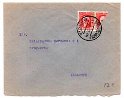Carta Con Matasellos De Barro Del Carmen Murcia De 1937 - 1931-50 Lettres