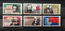 (1686) DDR 1983 : KARL MARX YEAR ENGELS LENIN COMMUNIST MANIFESTO - MNH VF - Karl Marx
