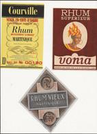 3  ETIQUETTES     RHUM - Rhum