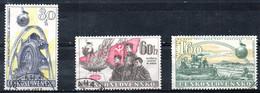 TCHECOSLOVAQUIE. N°949-51 De 1958 Oblitérés. Putsch De Février 1948/Moissonneuse-batteuse. - Czechoslovakia