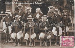 OLD  POSTCARD - GUATEMALA C.A. CORPORACION MUNICIPAL DE NAHUALATE - VIAGGIATA 1924 - T179 - Guatemala