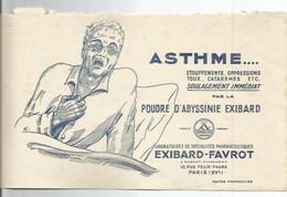 BUVARD ANCIEN /  ASTHME POUDRE D ABYSSINIE EXIBARD PARIS EXIBARD FAVROT PHARMACIE TOUX - Chemist's
