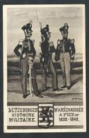 +++ CPA Militaria - Militaire - Letzeburg - Bundeskontingent - Maréchaussée à Pied - Soldat - Uniforme - Illustrateur // - Uniformes