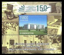 Uzbekistan 2020. National Library. Architecture.  MNH - Uzbekistan