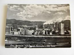 CAIRO MONTENOTTE(SV)-STABILIMENTI MONTECATINI E COK SAVONA TRENO TRAIN   Industria  FACTORY   VIAGGIATA BOLLO RIMOSSO - Industrie