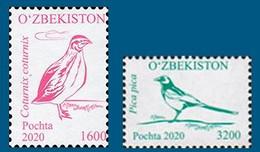 Uzbekistan 2020. Definitive Issue. Birds. Fauna.  MNH - Uzbekistan