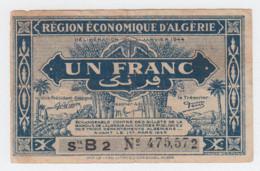 ALGERIA 1 FRANC 1944 / 1949 Fine Pick 98a 98 A - Algeria