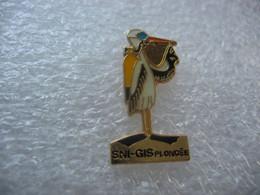 Pin's Du Club De Plongée SNI-GIS à Guebwiller (Dépt 68). Cigogne En Tenue De Plongée - Buceo