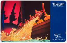 NEW ZEALAND NOUVELLE-ZÉLANDE NEUSEELAND DISNEY - MICKEY MOUSE STORY III 5$ GPT PHONECARD TELECARTE PERFECT UNUSED - Disney